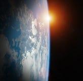 Éléments de rendu de la vue 3D de la terre de planète de cette image meublés Image libre de droits
