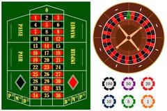 Éléments de roulette Image libre de droits