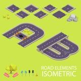 Éléments de route isométriques Police de route Lettres A et Photo libre de droits