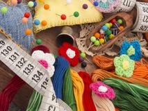 Éléments de Sewings Photos stock