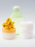 Éléments de Skincare Photographie stock
