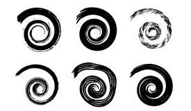 Éléments de spirale de vecteur de résumé, modèles géométriques radiaux photos stock