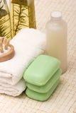 Éléments de station thermale et de massage Photo stock