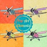 Éléments de style d'art de bruit Ensemble d'avions de vecteur Photos stock