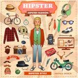 Éléments de style de hippie Images libres de droits