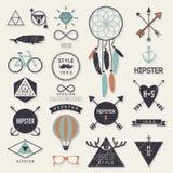 Éléments de style de hippie Image libre de droits