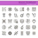 Éléments de technologie de biologie illustration de vecteur