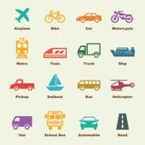 Éléments de transport illustration de vecteur