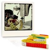 Éléments de tricotage image stock