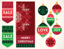 Éléments de tricotage pour la décoration de Noël illustration libre de droits