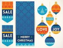 Éléments de tricotage pour la décoration de Noël illustration de vecteur