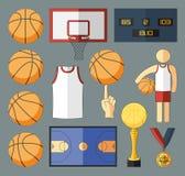 Éléments de vecteur de basket-ball Photos libres de droits