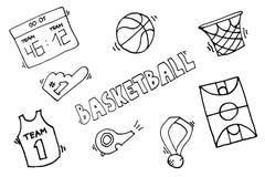 Éléments de vecteur de basket-ball Images stock