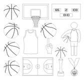 Éléments de vecteur de basket-ball Photographie stock libre de droits
