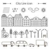Éléments de ville illustration stock