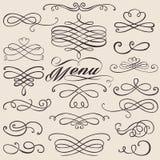 Éléments de vintage de calligraphie Images stock