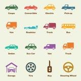 Éléments de voiture Photo libre de droits