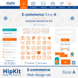 Éléments de web design de commerce électronique Photo stock