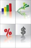 éléments des affaires 3d Photographie stock libre de droits