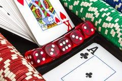 Éléments du casino Photos stock