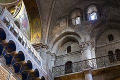 Éléments du temple de décoration intérieure de la sépulture sainte images libres de droits