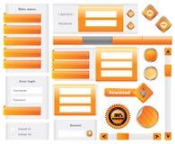 Éléments Editable de site Web Photos stock