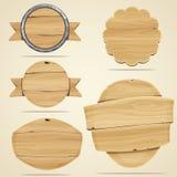 Éléments en bois illustration libre de droits