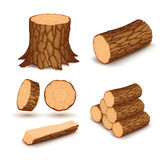 Éléments en bois de coupe illustration libre de droits