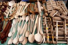 Éléments en bois fabriqués à la main Images libres de droits