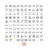 Éléments et icônes d'infographics de style de hippie Photographie stock