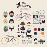 Éléments et icônes d'infographics de style de hippie Images stock