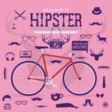 Éléments et icônes d'infographics de style de hippie Images libres de droits