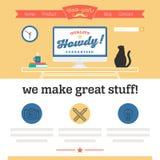 Éléments et icônes d'infographics de style de hippie Photos libres de droits