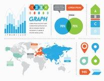 Éléments et objets d'Infographics illustration de vecteur