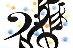 Éléments et pillules de notation de musique photos libres de droits
