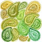 Éléments ethniques Illustr de Mehndi Henna Zentangle Doodle d'aquarelle Photos libres de droits