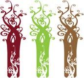 Éléments fleuris intéressants de conception d'arbre illustration libre de droits