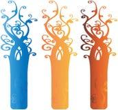Éléments fleuris intéressants Illustrati de conception d'arbre illustration libre de droits