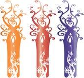 Éléments fleuris intéressants Illustrati de conception d'arbre illustration stock