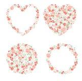 Éléments floraux décoratifs Image stock