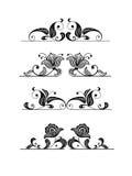 Éléments floraux de conception illustration libre de droits