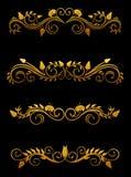 Éléments floraux de cru illustration de vecteur