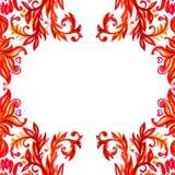 Éléments floraux de modèle Fond d'aquarelle de vecteur Images stock