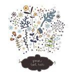 Éléments floraux de ressort Image libre de droits