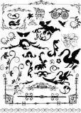 Éléments floraux de trame Images stock