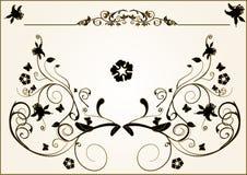 Éléments floraux de trame Image stock