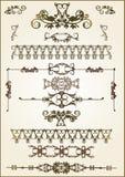 Éléments floraux de trame illustration de vecteur
