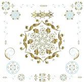 Éléments floraux de trame illustration libre de droits
