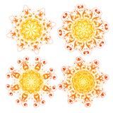 Éléments floraux et ornementaux illustration libre de droits