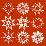Éléments floraux et ornementaux illustration de vecteur
